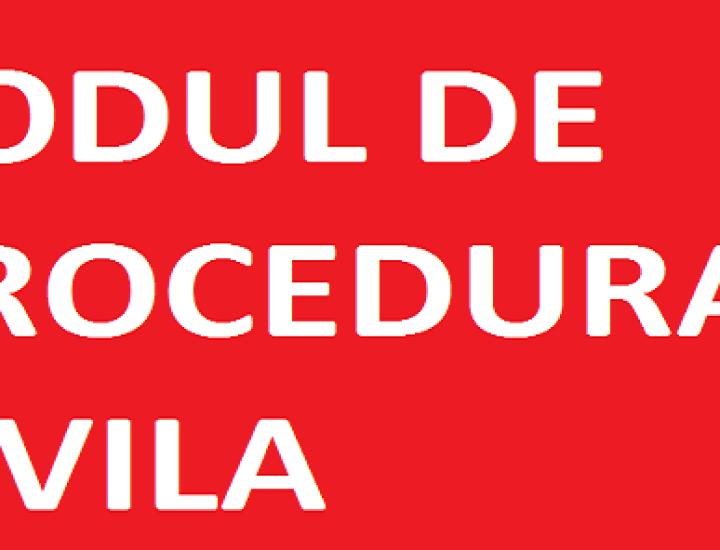 Codul de procedură civilă a fost republicat