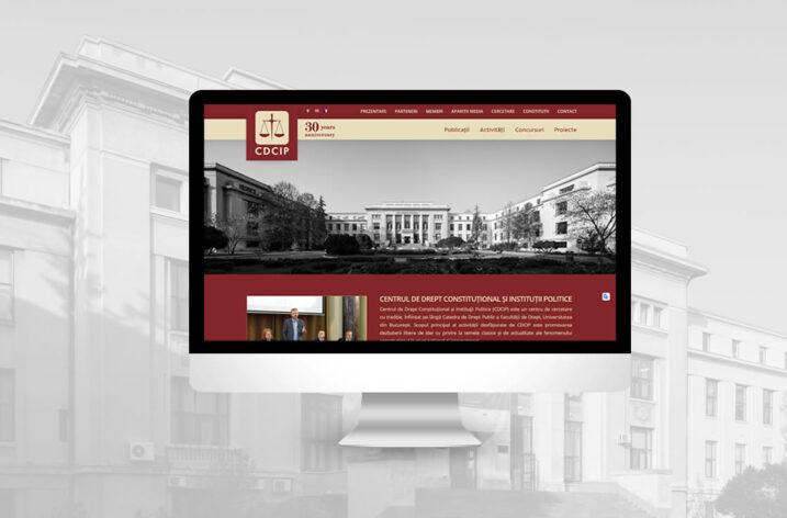 Centrul de Drept Constituțional și Instituţii Politice își relansează site-ul prin agenţia Justpixel